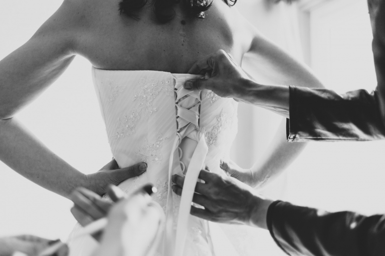 Robe de mariée photo noir et blanc