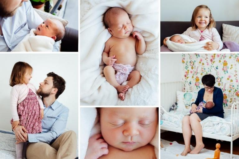 Séance photos naissance à domicile