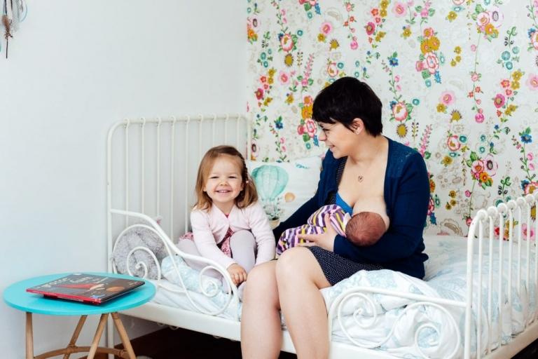 Portrait de bébé pour le faire-part de naissance