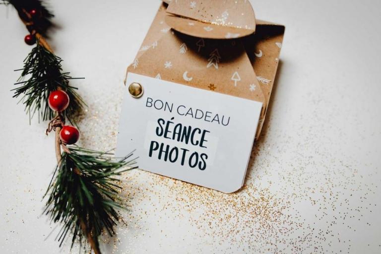 Bon cadeau séance photos noel Lyon