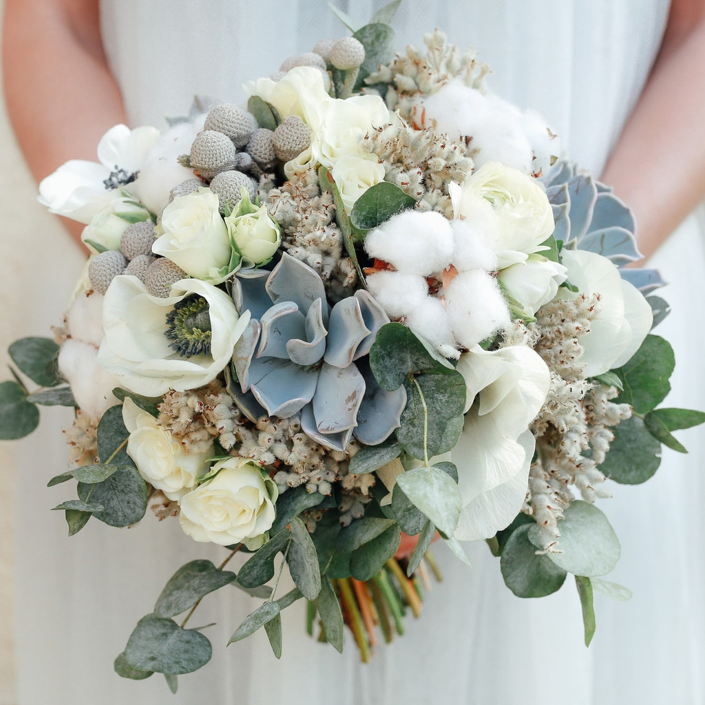 photo d'un bouquet mariage blanc